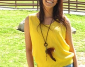 Vintage Sunflower Yellow Knit Tank