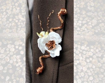 Hand Sculpted Glass Boutonniere
