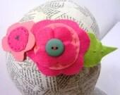 Pink Felt Flower Headband / Aliceband