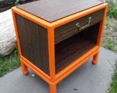 Vintage bedside table.
