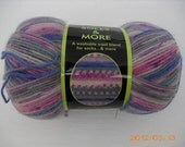 Sensations Soles & More Wool Blend Sock or Hat Yarn Purple, Pink, Green Blue and more - Makes its own pattern while knitting