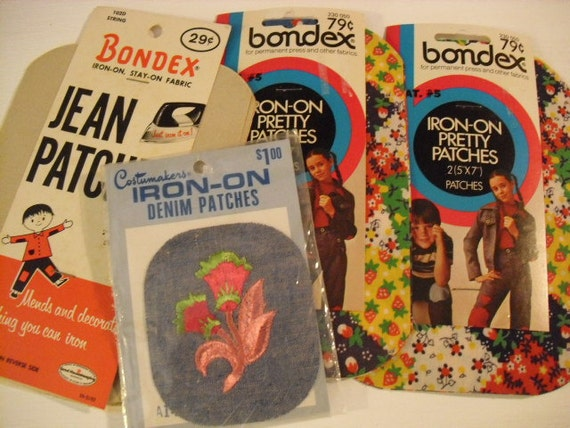 Patches Bondex Iron On for Jeans, Denim, Permanent Press and other fabrics