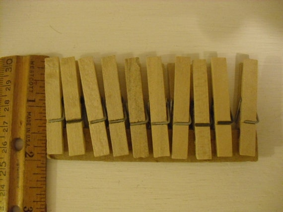 Clothes Pins Ten Small Spring Type Clothes Pins for  Sewing and Craft Supplies and Projects