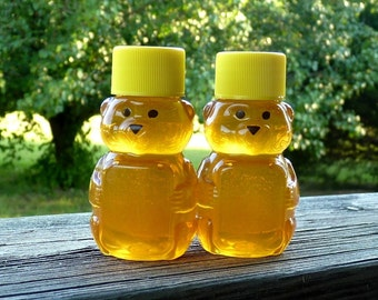 Edible Baby Shower Favors, 12 Raw Wildflower Honey 2oz Jars, Raw Honey, Tennessee Wildflower, Honey Bear Favors