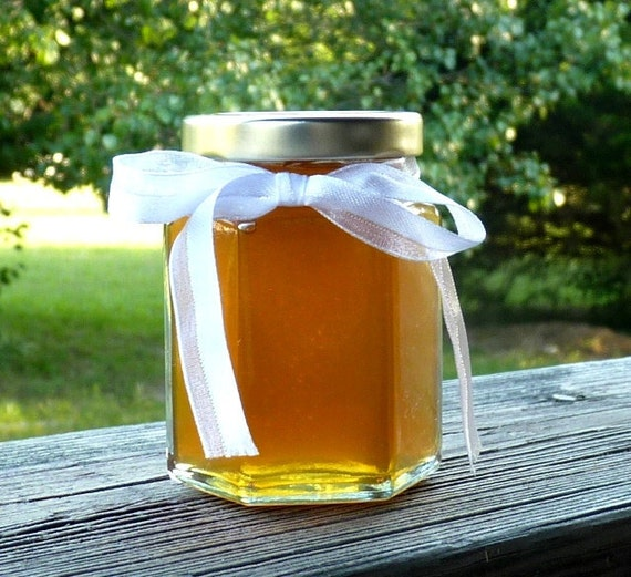 5oz Jar of Amber Honey Raw Unfiltered Tennessee Wildflower Honey Unique Gift