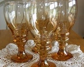 Set of 4 Carnival Glass Water Goblets