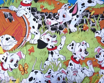 Childrens Vintage Sheet - Disney 101 Dalmatians - Full or Double Flat Sheet