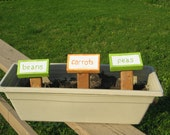 Garden Signs (Set of 5), custom upcycled repurposed wood project