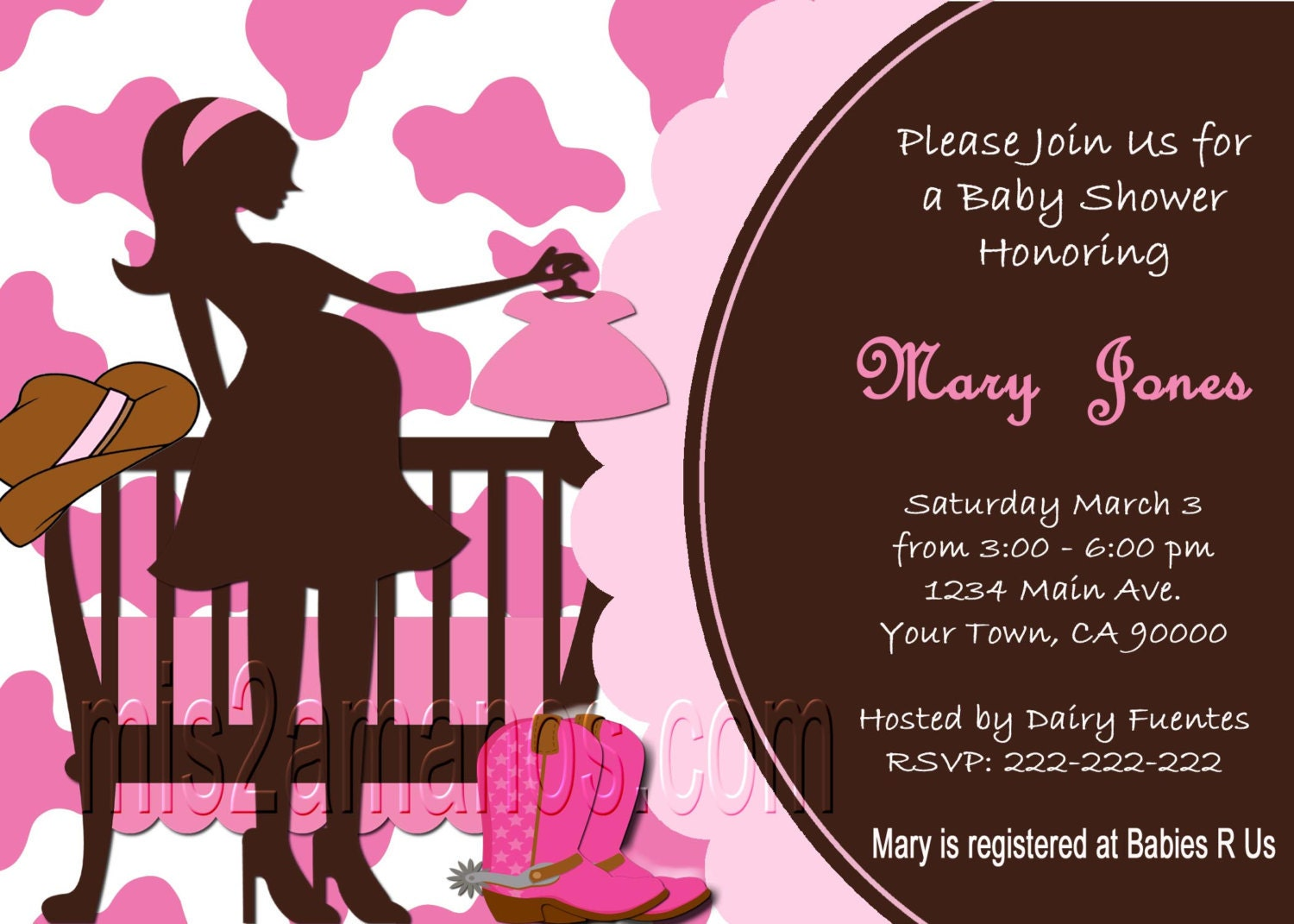western baby shower invites cowgirl western party invitations