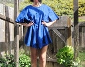 60s Mod Blue Dress Sz S-XL