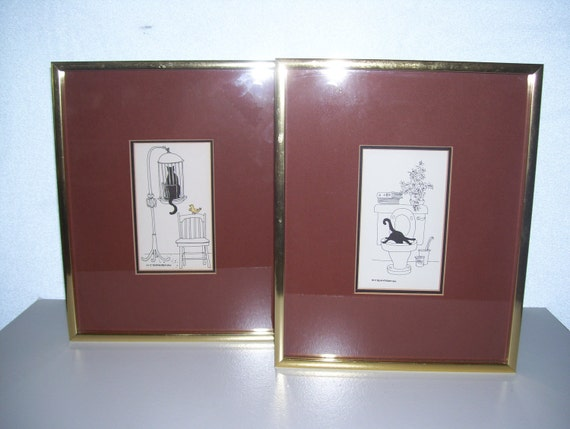 Set of 2 Signed prints by MJ Blakebrough