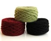Natural wool yarn  - 200 gr (2X3.50 oz) - CHOOSE COLOR