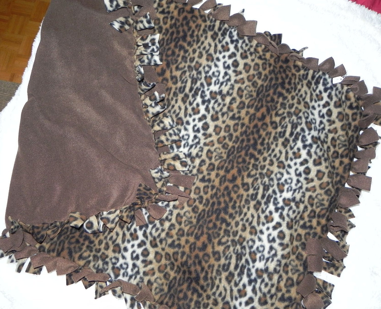 Animal Print Polar Fleece Tied Blanket
