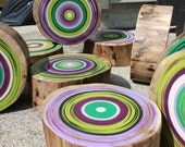 Eco Friendly Wall Art Tree Rings - Set of 9             (1003-55-9)