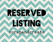 Reserved Listing for Alex Carman