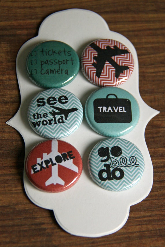 travel flair buttons