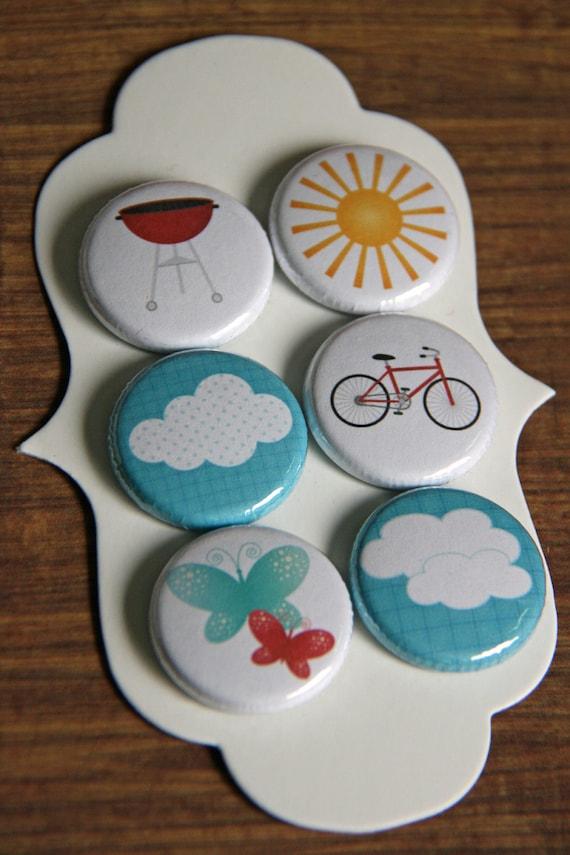 summer days flair buttons