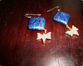Lapis Lazuli Bee Earrings