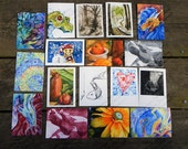 5  Greeting Cards - 5x7 cards your choice mix and match