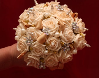 Alternative wedding bouquet. alternative to fresh flowers. a keepsake forever. You choose the colour.