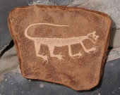Cougar Petroglyph Panel From Petrified Forest National Park Aizona