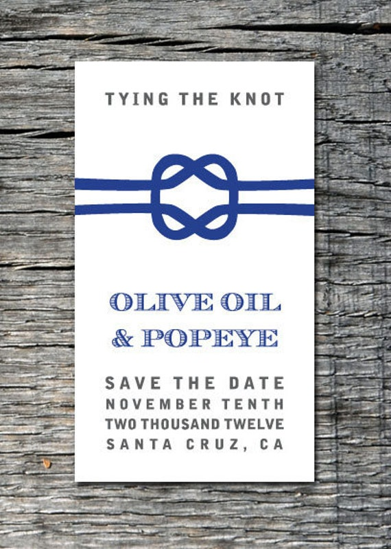 items similar to nautical tying the knot custom save the