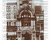 New Amsterdam Theatre NEw York City 1903 vintage print 7.5X10 inch