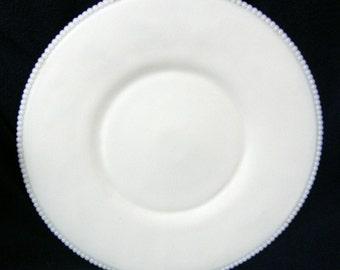 Westmoreland Glass Milk Glass Beaded Edge Zodiac Torte Platter - ca. 1950's