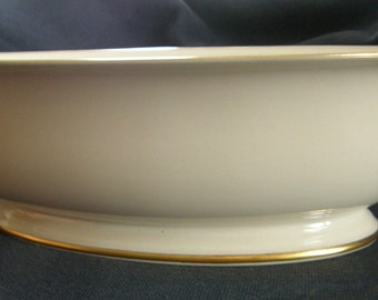 Franciscan China footed Vegetable Serving Bowl - Rossmore pattern ca. 1940's