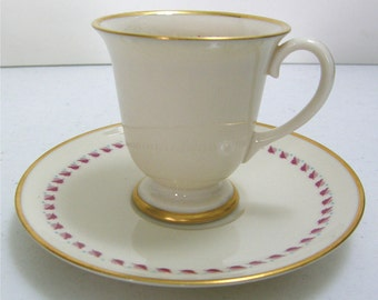 Franciscan China - Arden pattern Footed Demitasse Cup and Saucer ca. 1940s
