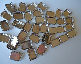 24 Large Metal Cabochon Settings 18mm x 25mm with Prongs olivemlouDIY