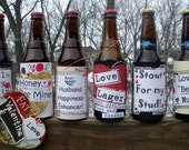 Valentines Day beer labels