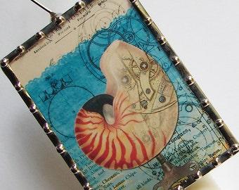 Nautical Night Light,  Steampunk Industrial Art Print Home Decor Artwork Illustration N24