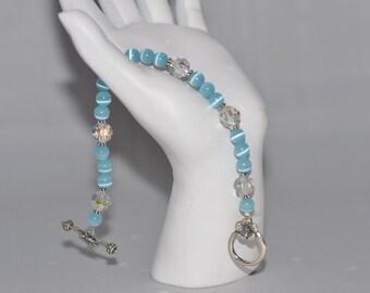 Crystal and Catseye Bracelet