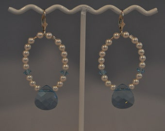 Swarovski Crystal and Pearl Earrings