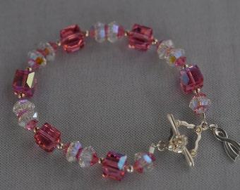 Cancer Awareness Swarovski Crystal Bracelet