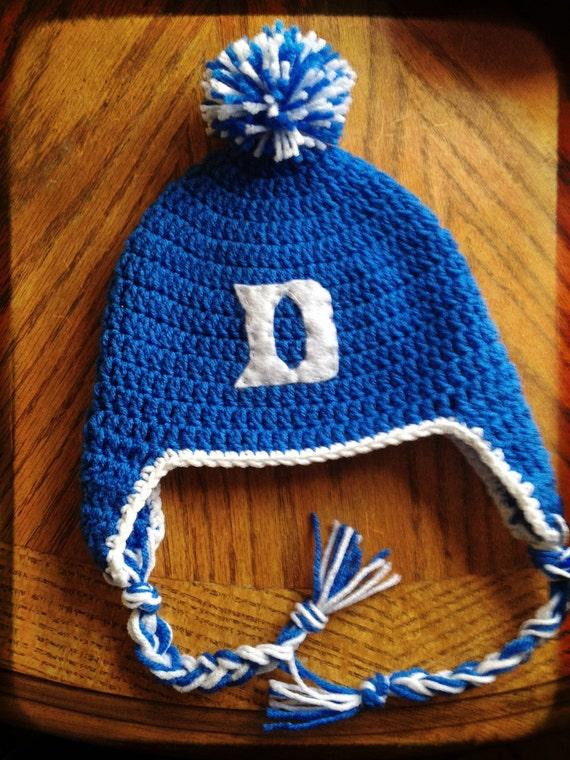 Duke Blue Devils college basketball crochet hat for children Duke Blue Devils Basketball 2017 2017