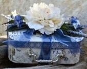 Silk Floral, French Country, Home Decor, Treasure Box, Paris, Purple, Cream