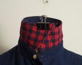 Wilkes and Bashford Blue Wool and Cotton Shirt Medium