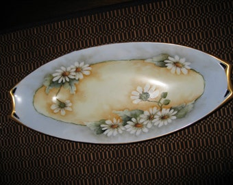 Hand painted celery dish
