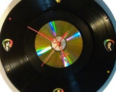 Bob Marley fans - 33 record, 45 record and Cd clock w/ Bob Marley guitar pick numbers