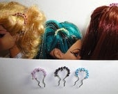 "Doll Hair Accessories -Beaded Hair Fork for FR Fashion Royalty Poppy Barbie 13"" inch Revlon Monster High etc"