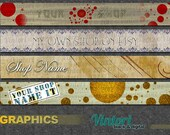 Premade shop banners 4 to choose from