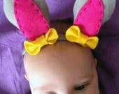 Easter bunny ears with bows