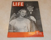 Vintage Magazine -  Life Magazine January 6, 1947 with Annapolis drag on the cover and a piece on W.C. Fields death on Christmas day.