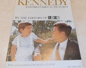 Vintage Look Magazine published 1963 Kennedy and his family in pictures. JFK