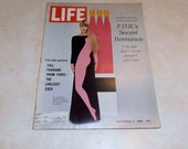 Vintage Life Magazine September 2, 1966.  With fall fashions from Paris on the cover.  Also inside LBJ and FDR.