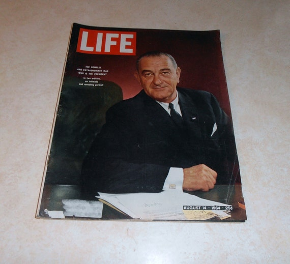 Vintage Life Magazine August 14, 1964.  With LBJ on the cover.  Also inside Vietnam, Buster Keaton, and the Vanderbilts.