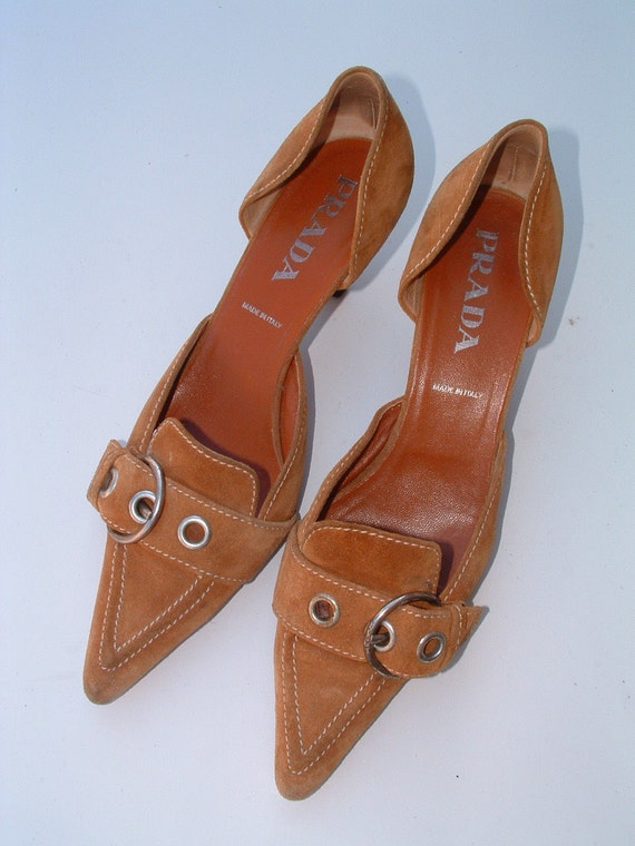Prada swede shoes size 40 pre-owned circa 1992's made in Italy