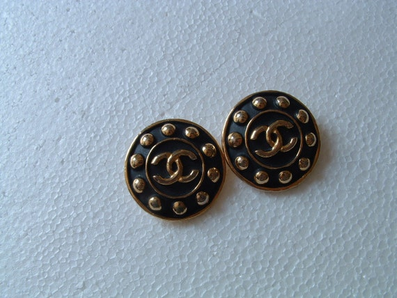 Chanel original clip earrings circa 1980's made in France